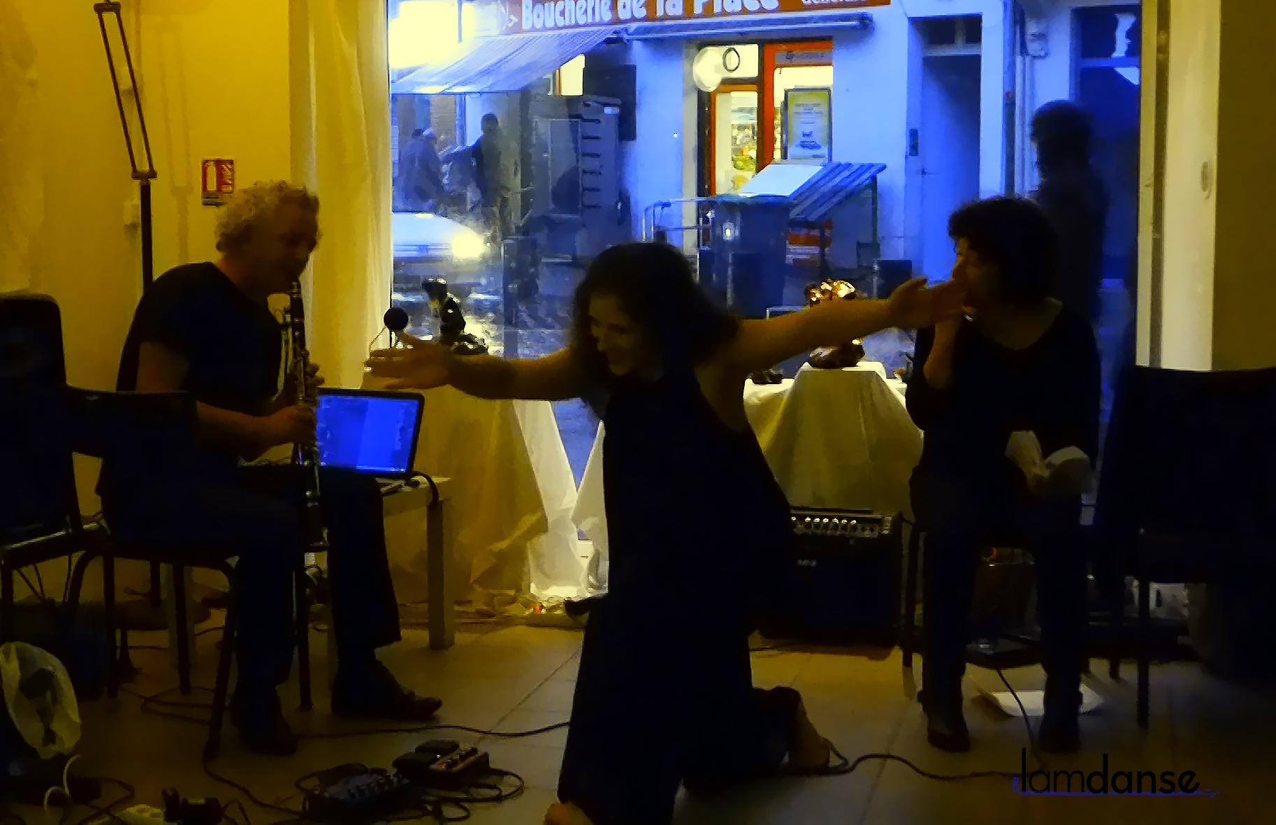 Spectacle lecture, musique et danse improvisées